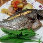 Fırında Karagöz Balığı